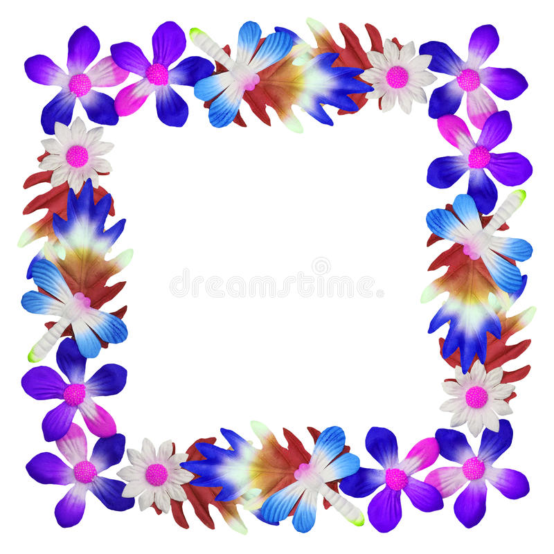 Flowers made of colorful paper used for decoration royalty free stock photos