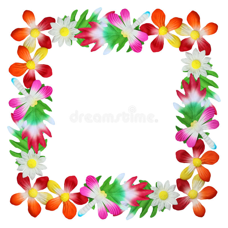 Flowers made of colorful paper used for decoration stock images