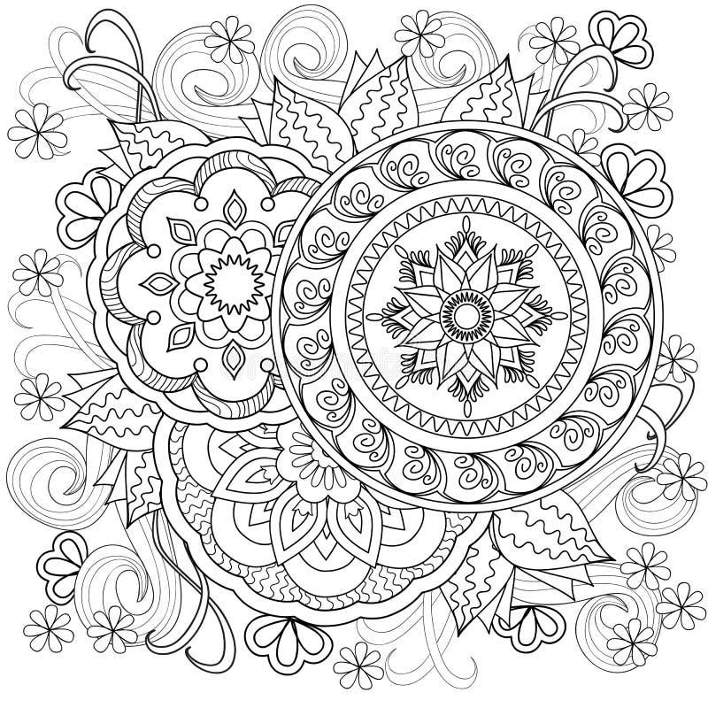 Flowers-mandalas-b10 ilustração royalty free