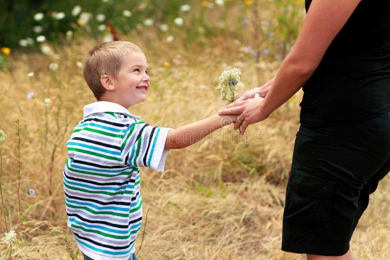 Flowers For Mom Stock Images