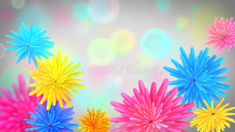 Flowers opening- colorful video background