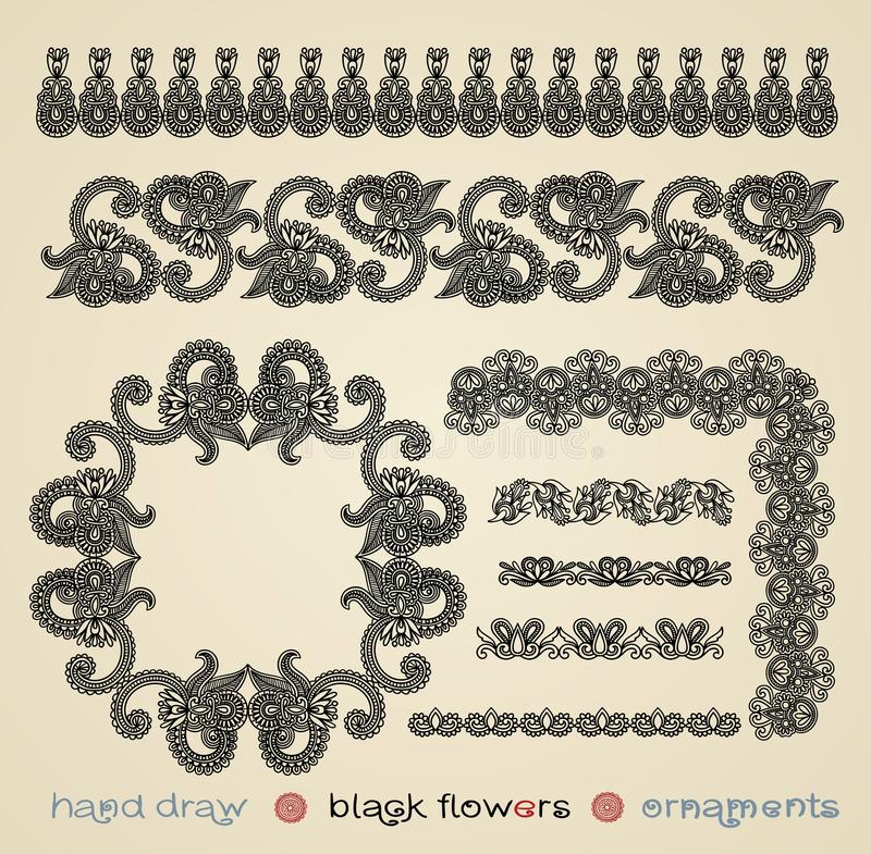Download Flowers Ornaments And Frame Stock Vector - Image: 19946875