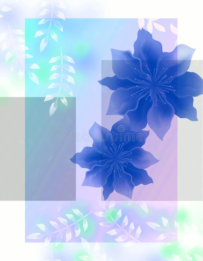 Flowers in pastel colors in vintage style. royalty free illustration