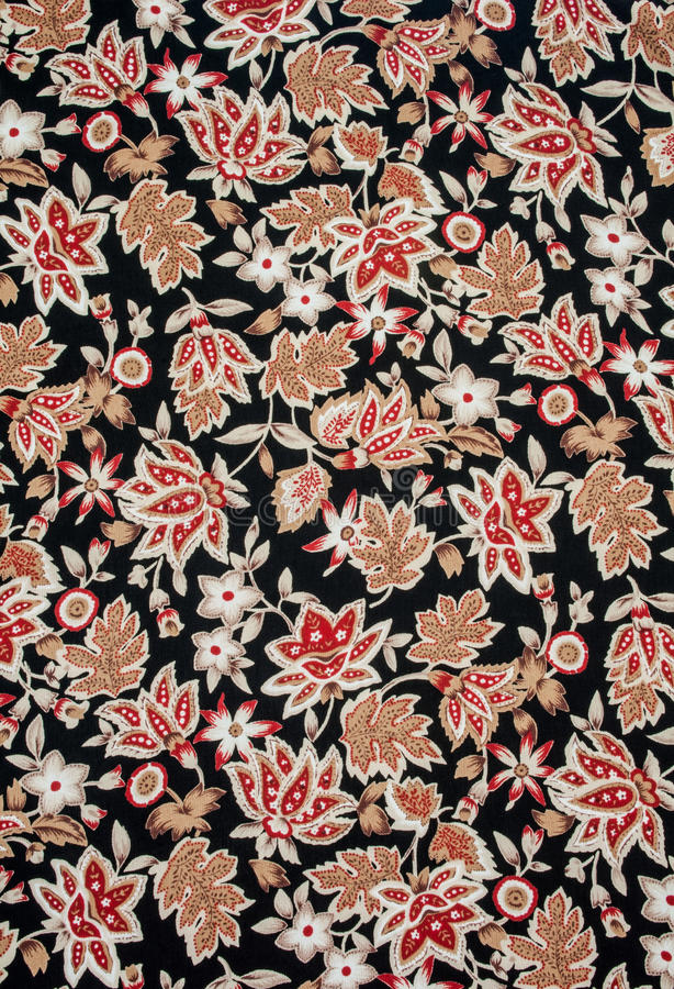 Flowers pattern. Flowers pattern on fabric, useful as textures and backgrounds stock images