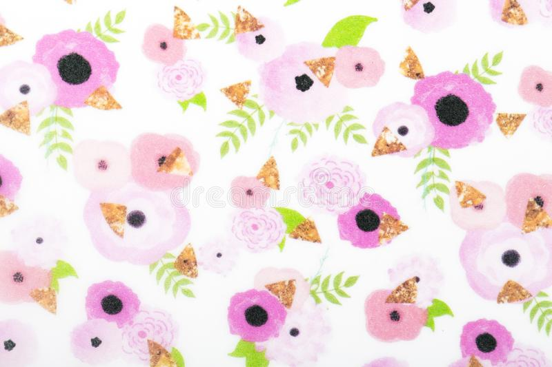 Flowers pattern paper for textile wallpaper pattern fills covers surface print gift wrap scarf royalty free stock photos