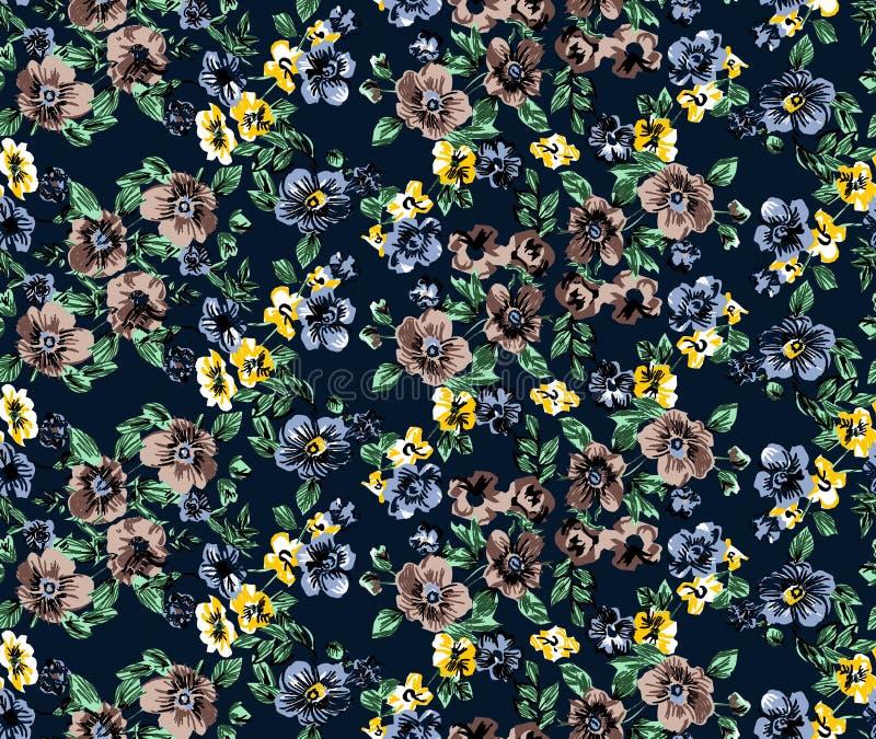 Flowers pattern raport royalty free stock photo