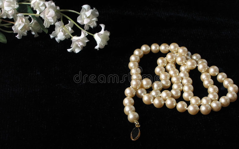 Flowers and Pearls stock photos