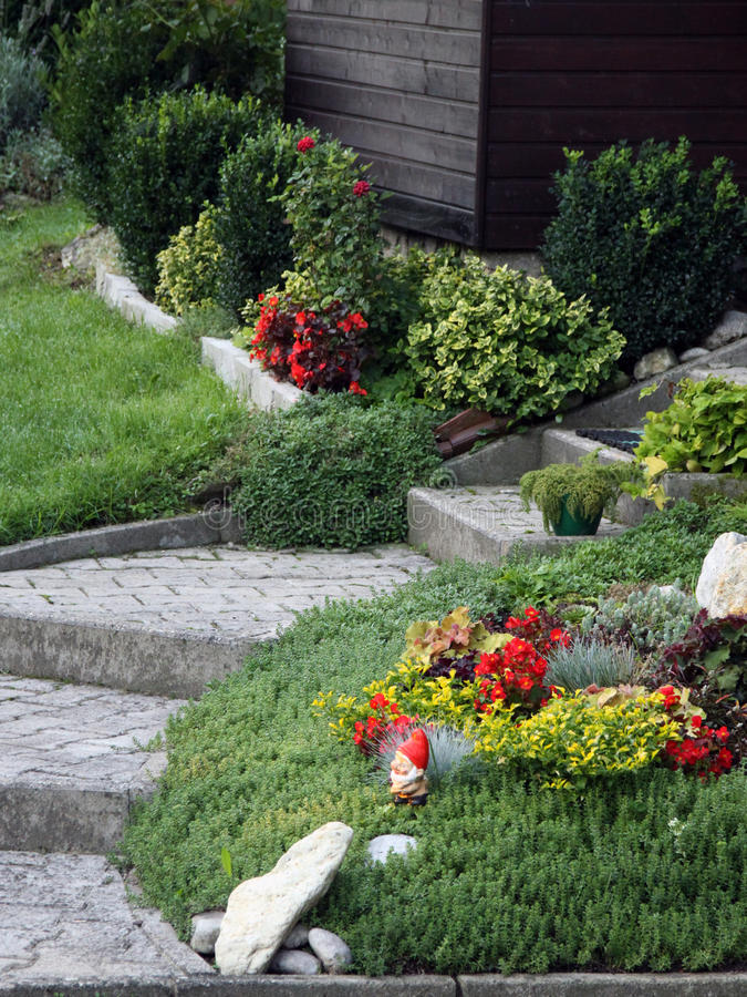 Download Flowers And Perennial Plants Front Of The House Stock Photo - Image: 21338316