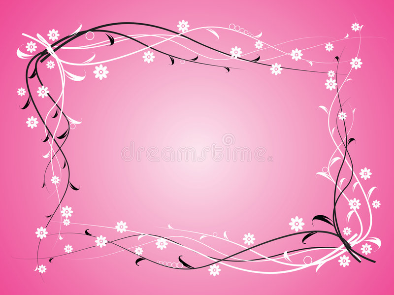 Flowers on pink background royalty free illustration