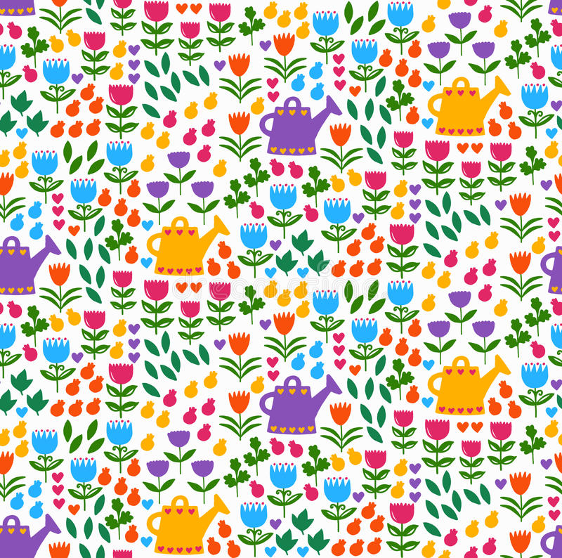 Flowers plants nature floral seamless vector pattern vector illustration
