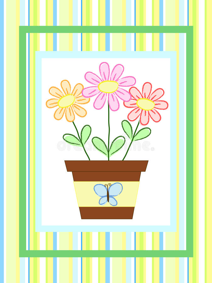 Download Flowers in a pot stock vector. Illustration of colored - 15815471