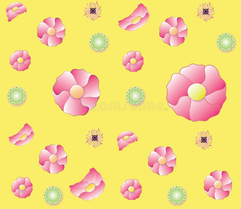 Flowers repeating color pattern vector illustration