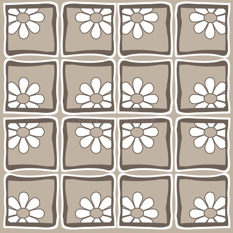 flowers retro style απεικόνιση αποθεμάτων