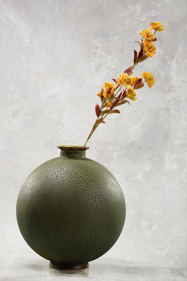 Download Flowers in round vase stock photo. Image of crackled - 24258804
