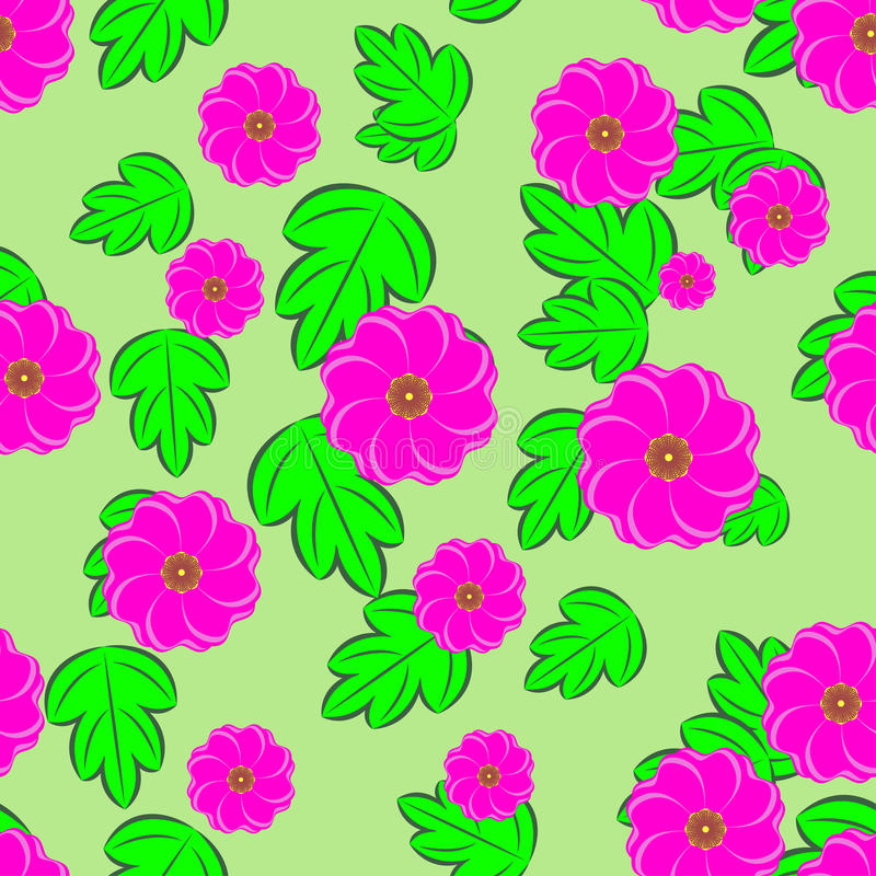 Download Flowers Seamless Background Stock Vector - Image: 30969401