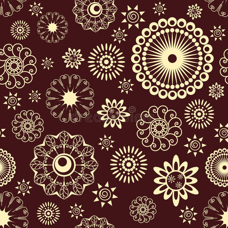 Download Flowers seamless pattern stock vector. Image of background - 10060595