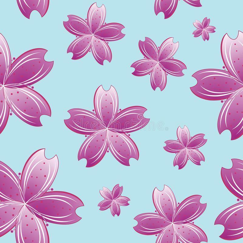 Flowers seamless pattern stock photo