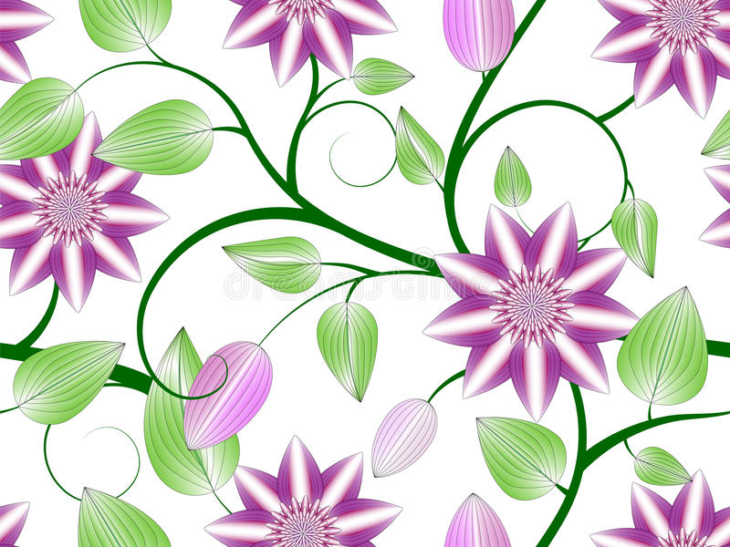 Flowers seamless pattern stock illustration
