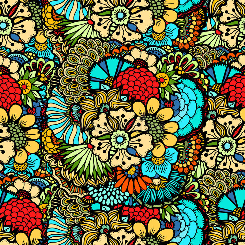 Flowers seamless pattern vector illustration