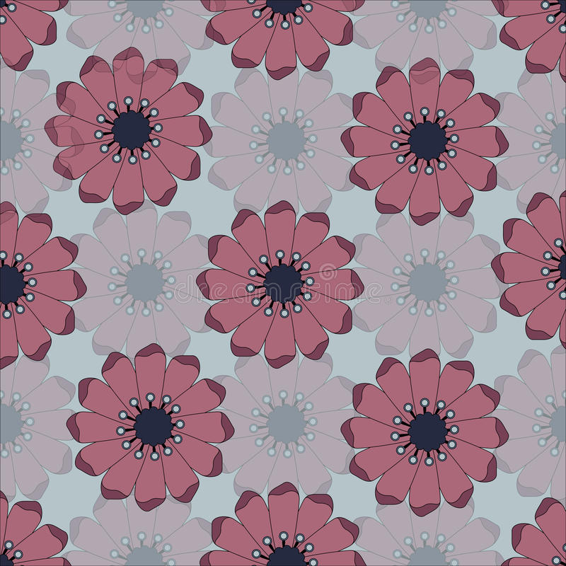 Flowers seamless pattern. stock image