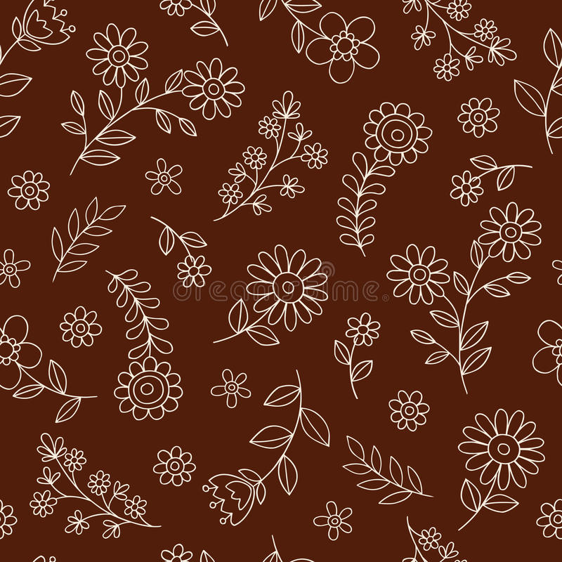 Download Flowers Seamless Pattern Vector Background Stock Vector - Illustration of doodle, elements: 26827608