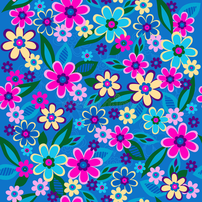 Download Flowers Seamless Repeat Pattern Vector Stock Vector - Image: 5753381