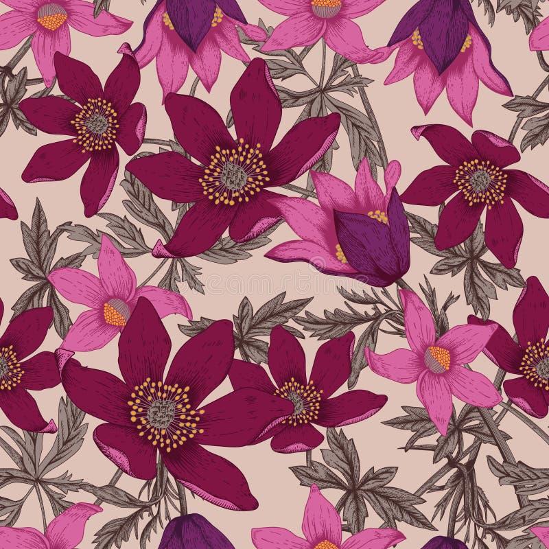 Flowers. Seamless vector background. vector illustration