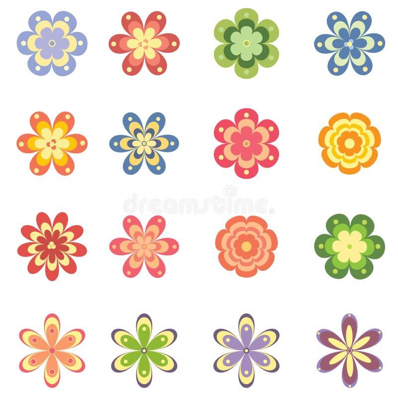 Flowers set. Set of different flowers. Illustration