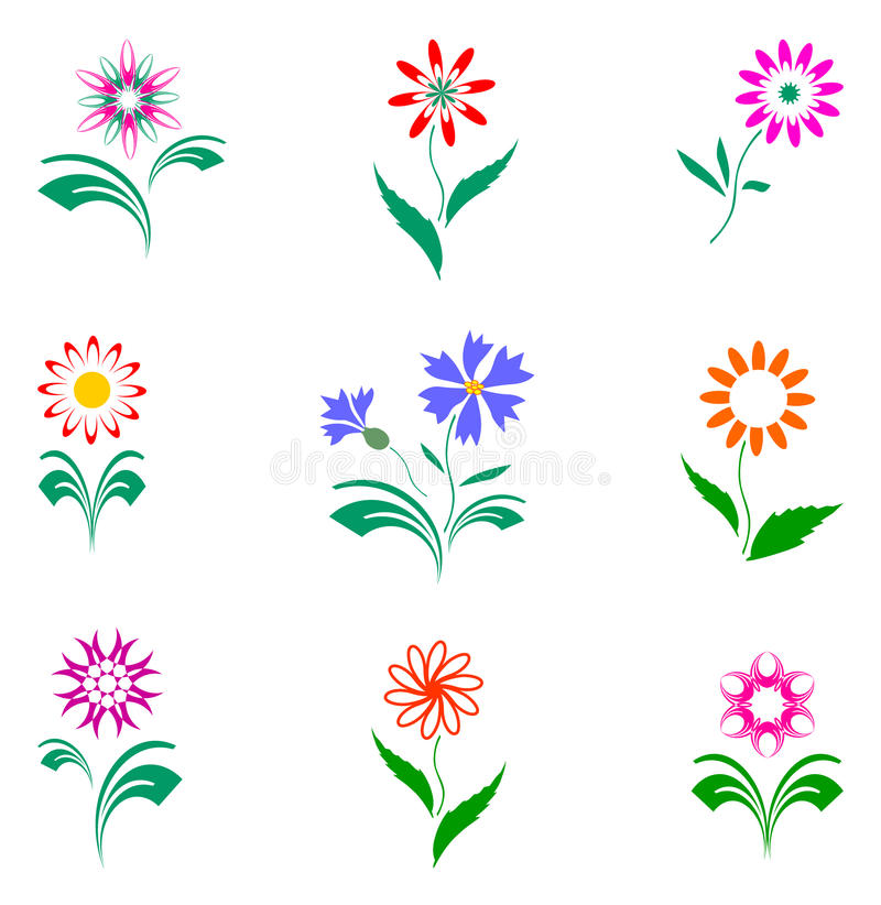 Download Flowers Set, Design Elements. Royalty Free Stock Photography - Image: 11761657
