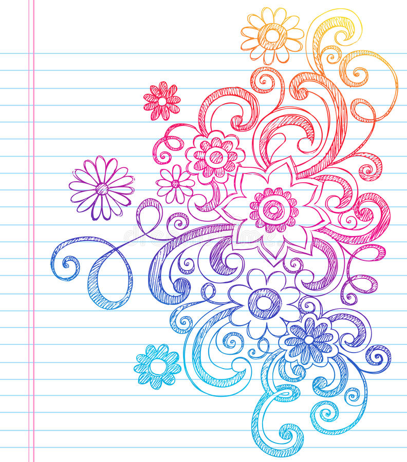 Download Flowers Sketchy Back To School Doodle Vector Stock Vector - Illustration: 22697131