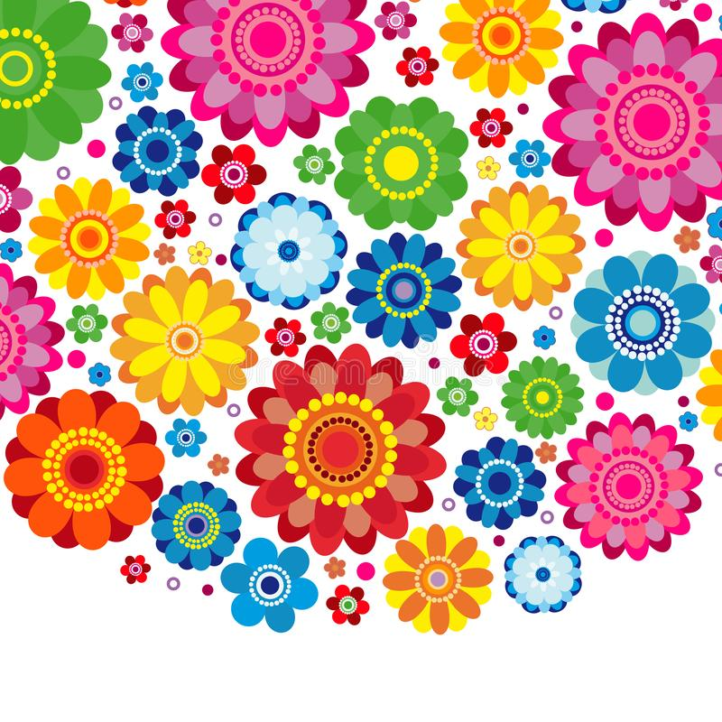 Flowers spring design on a white background, floral. Flowers spring design on a white  background, floral vector illustration vector illustration