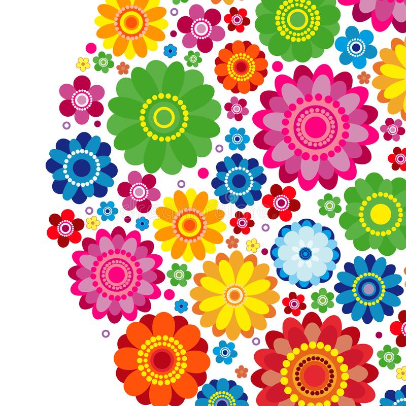 Flowers spring design on a white  background, floral. Vector illustration stock illustration