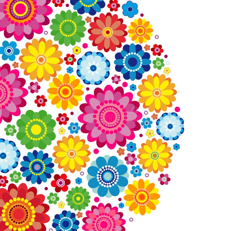 Flowers spring design on a white  background, floral. Vector illustration royalty free illustration