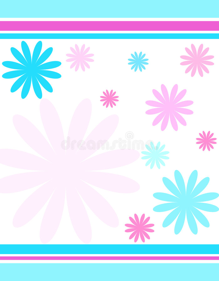 Flowers and stripes royalty free illustration