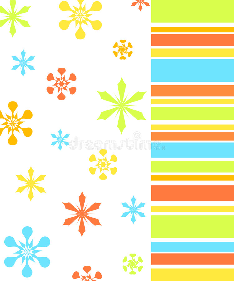 Flowers and stripes pattern vector illustration