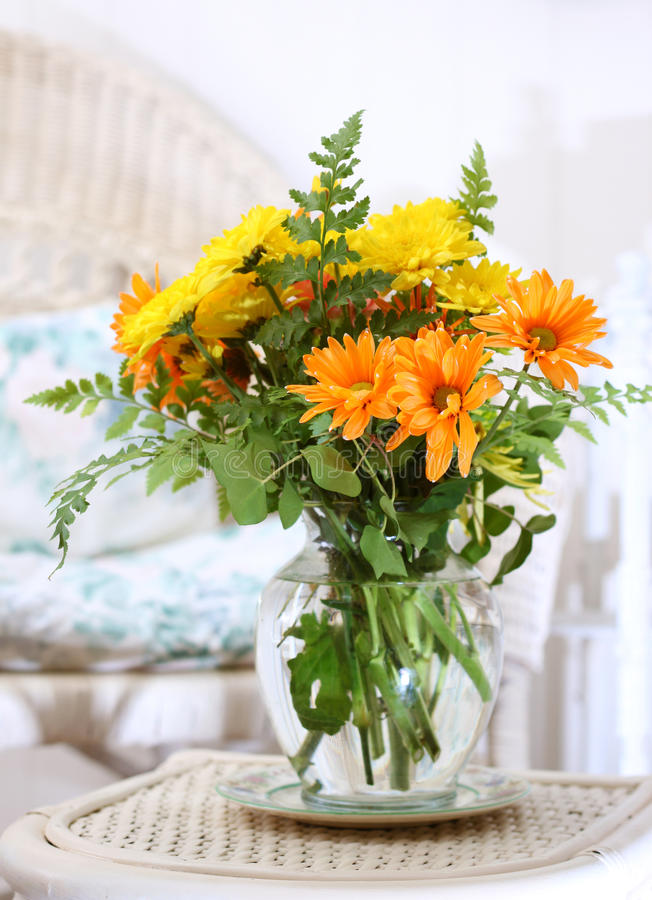 Download Flowers in the sun room stock image. Image of orange - 23760475