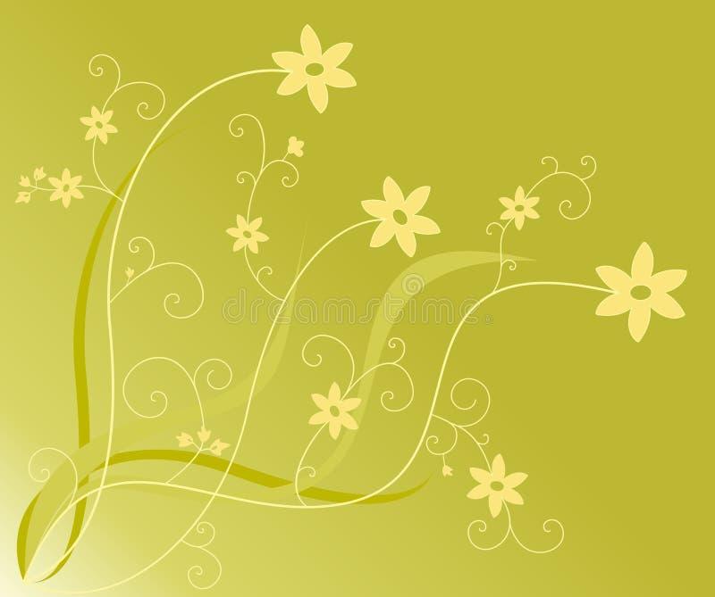 Flowers and swirls stock illustration