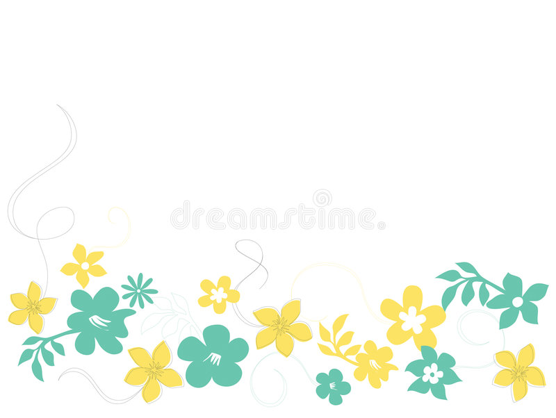 Download Flowers and swirls stock vector. Image of petals, pattern - 3827243