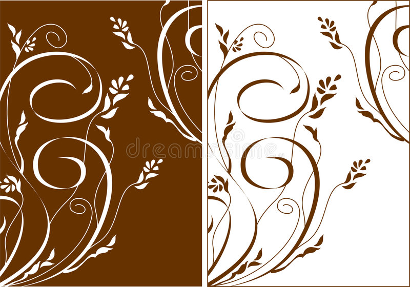 Download Flowers And Swirls Backgraund Stock Vector - Image: 1925240