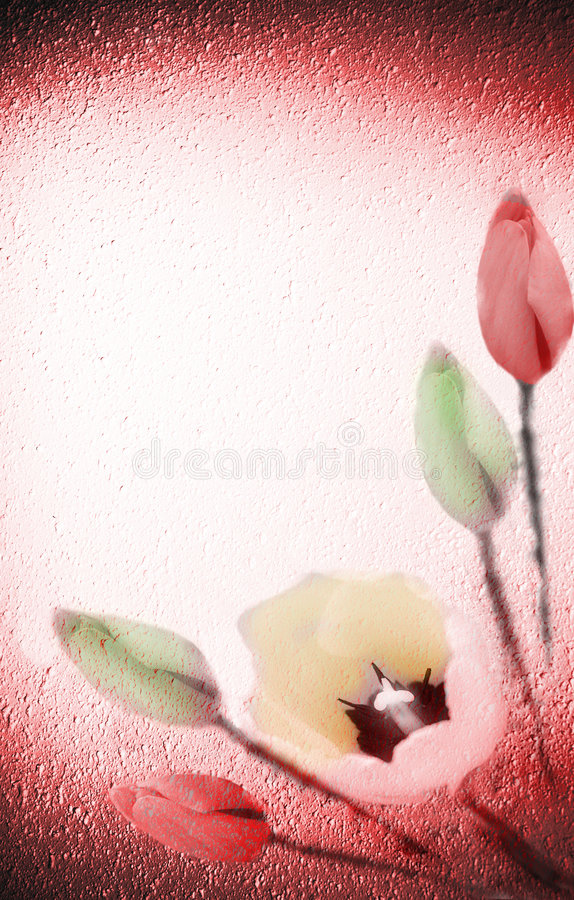Flowers on textured background royalty free illustration