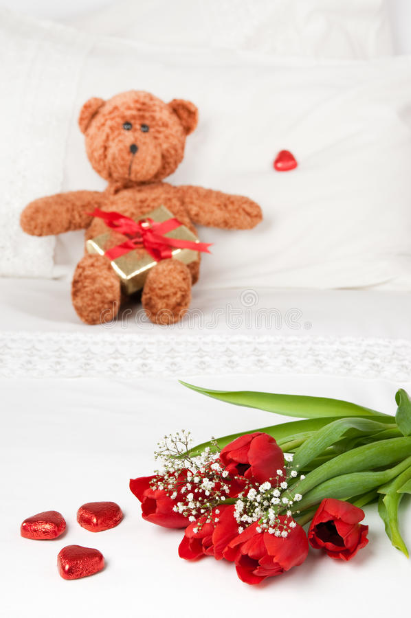 Flowers For Valentines Day Royalty Free Stock Photos