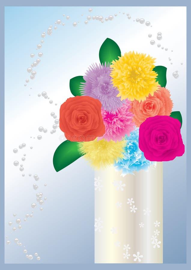 Flowers in vase stock illustration