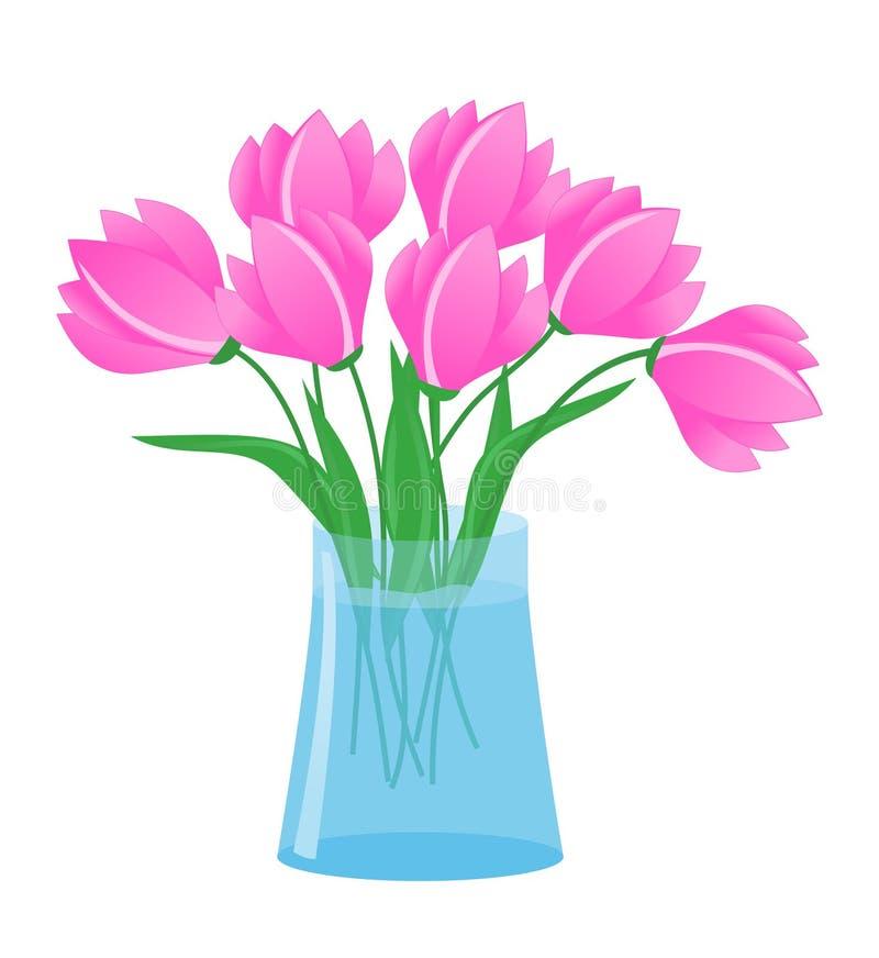 Flowers in vase royalty free illustration