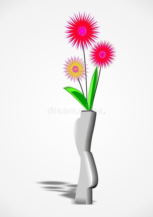Download Flowers in a vase stock illustration. Illustration of black - 27318037
