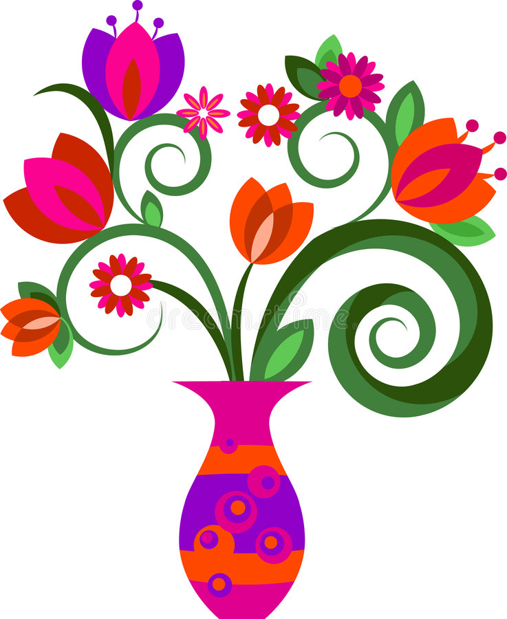 Flowers in a vase vector illustration