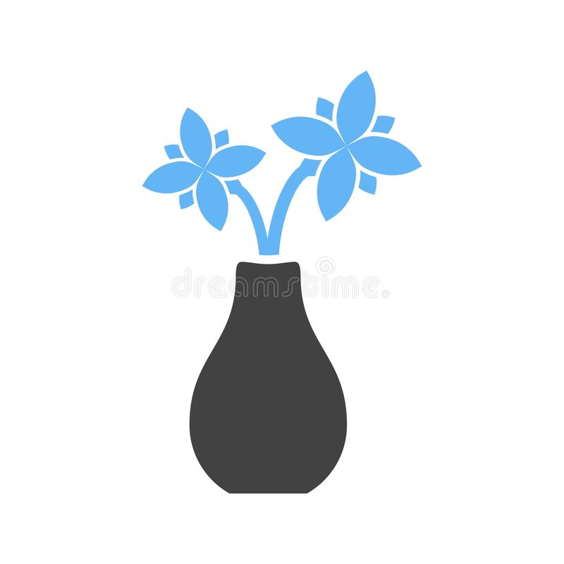 Flowers in Vase. Vase, flower, glass icon vector image. Can also be used for funeral. Suitable for mobile apps, web apps and print media vector illustration