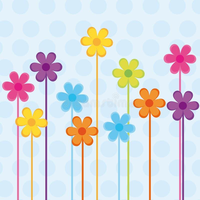 Flowers vector royalty free illustration