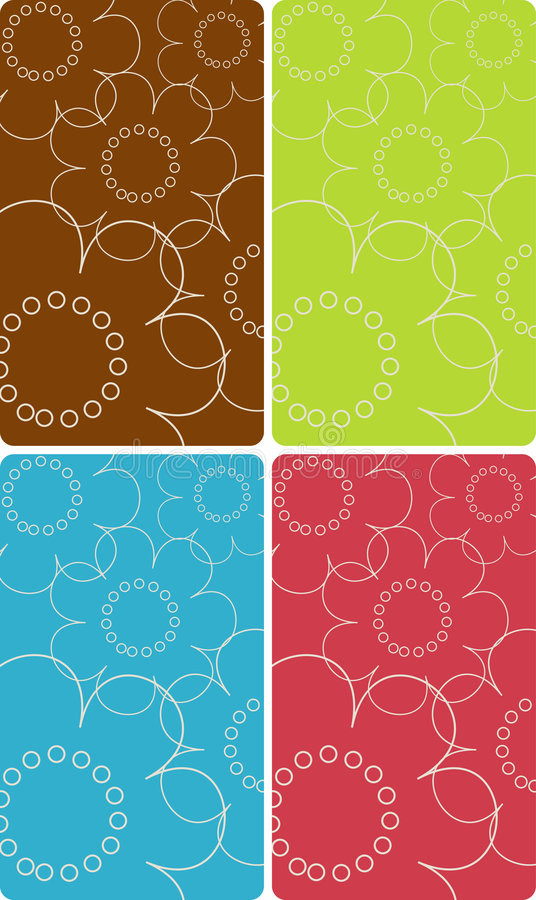 Flowers Vector Backgrounds Royalty Free Stock Image