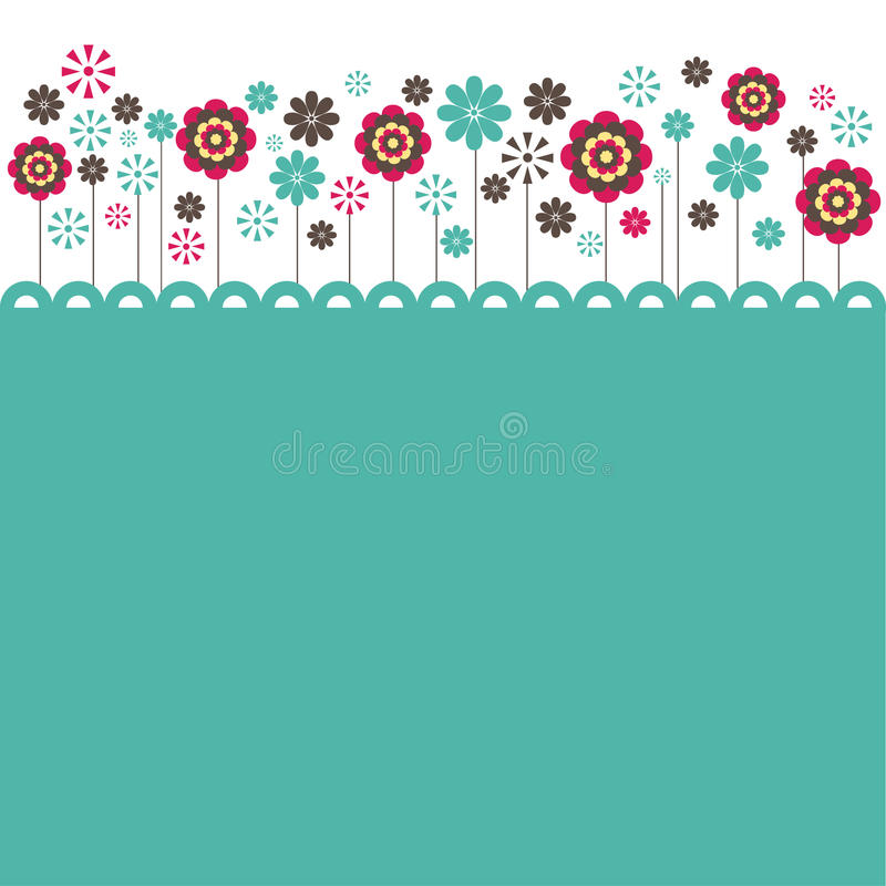 Flowers. vector illustration. Colorful Flowers background . vector illustration stock illustration