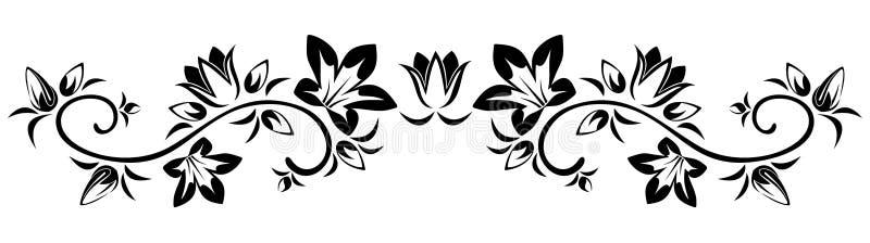 Flowers vignette. Vector illustration. royalty free stock image